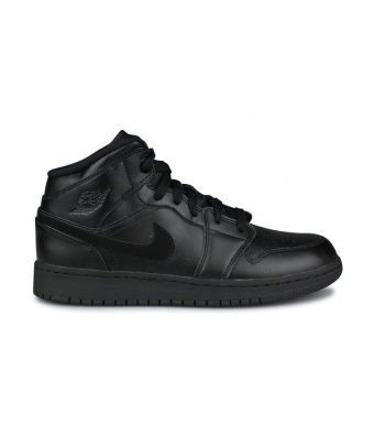 AIR JORDAN 1 MID JUNIOR NOIR 554725-090
