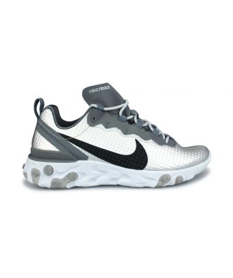NIKE REACT ELEMENT 55 PREMIUM ARGENT CI3835-001