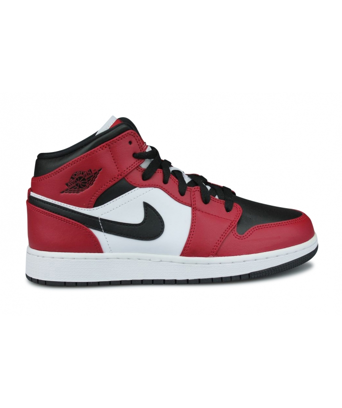 AIR JORDAN 1 MID CHICAGO BLACK TOE GS 554725-069