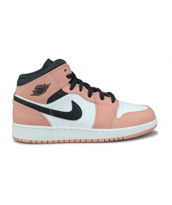 AIR JORDAN 1 MID PINK QUARTZ GS 555112-603