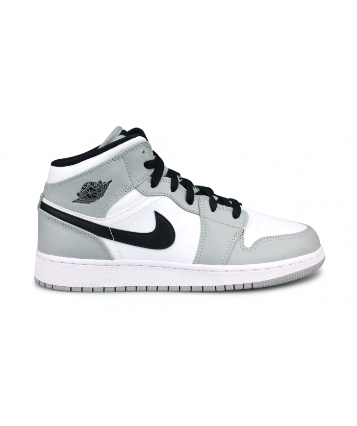 AIR JORDAN 1 MID LIGHT SMOKE GREY JUNIOR 554725-092
