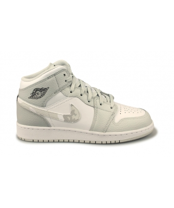 AIR JORDAN 1 MID SE JUNIOR BLANC DD3235-100