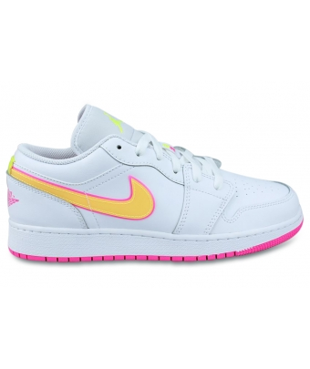 AIR JORDAN 1 LOW EDGE GLOW JUNIOR BLANC CV4610-100