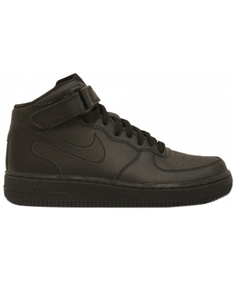 NIKE AIR FORCE 1 MID JUNIOR NOIR