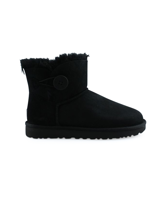 UGG W MINI BAILEY BUTTON 2 NOIR 1016422BLK