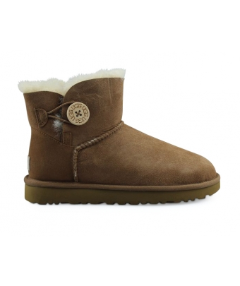 UGG W MINI BAILEY BUTTON 2 CHATAIGNE 1016422CHE