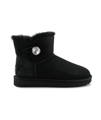 UGG W MINI BAILEY BUTTON BLING BLACK 1016554