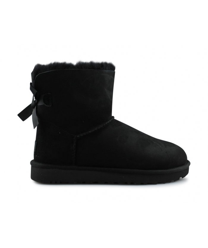 UGG W MINI BAILEY BOW 2 NOIR 1016501BLK