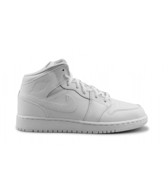 AIR JORDAN 1 MID JUNIOR BLANC 554725-110