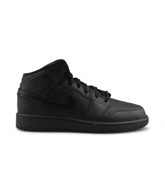 AIR JORDAN 1 MID JUNIOR NOIR 554725-044