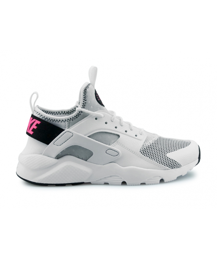 NIKE AIR HUARACHE RUN ULTRA JUNIOR BLANC 847568-100
