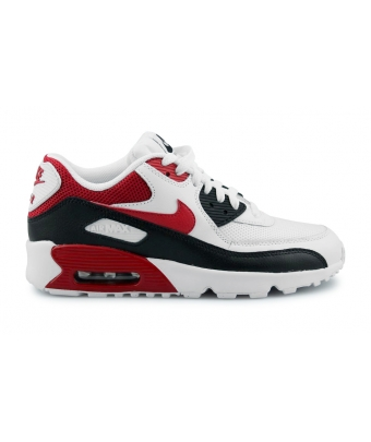 NIKE AIR MAX 90 MESH JUNIOR BLANC 833418-107