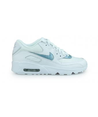NIKE AIR MAX 90 MESH JUNIOR BLANC 833418-111