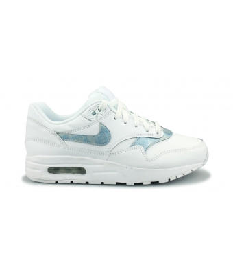 NIKE AIR MAX 1 JUNIOR BLANC 807602-106