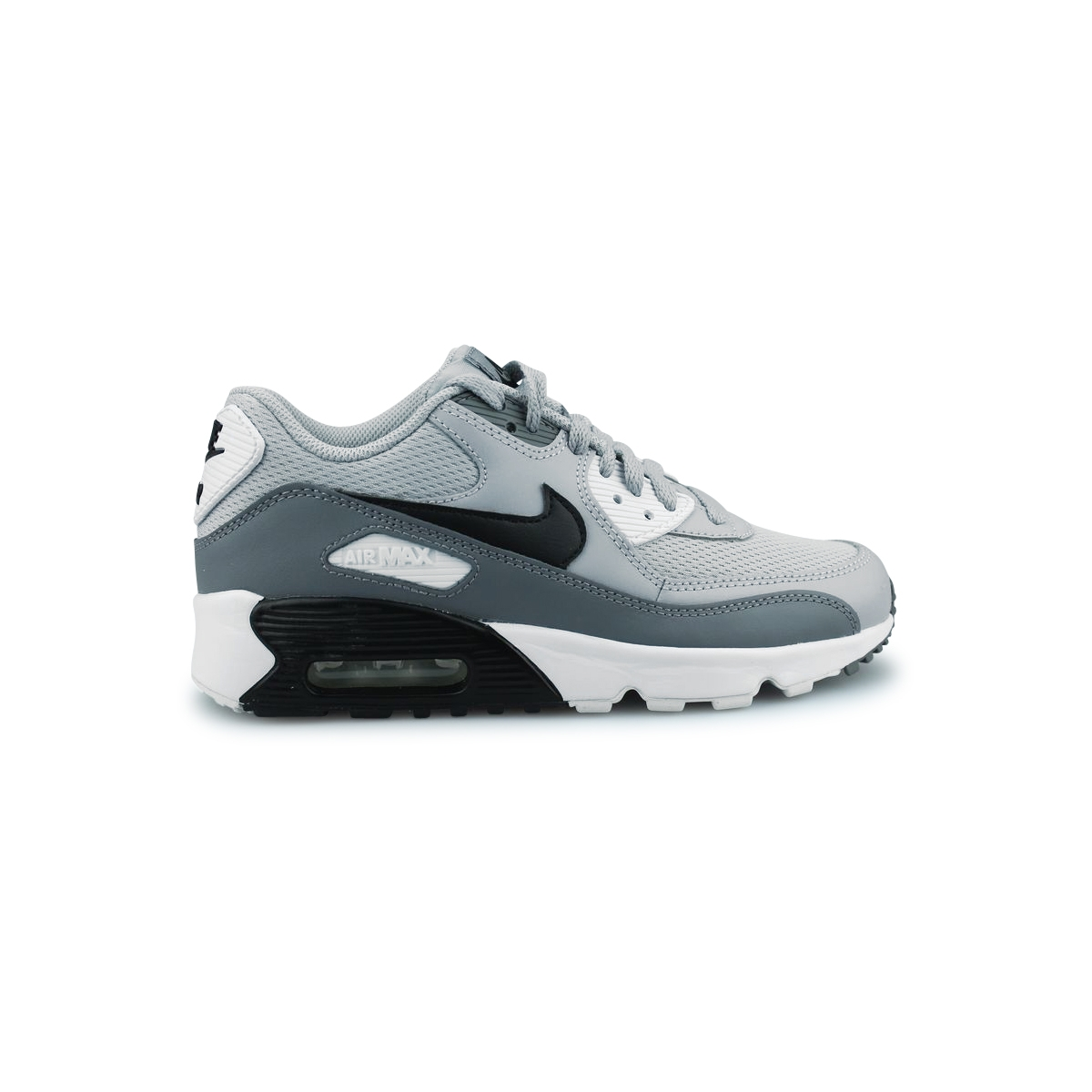 sports shoes 704a9 c35c0 NIKE AIR MAX 90 MESH JUNIOR GRIS LOUP 833418-024. Loading zoom