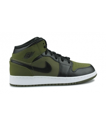 AIR JORDAN 1 MID JUNIOR OLIVE 554725-301