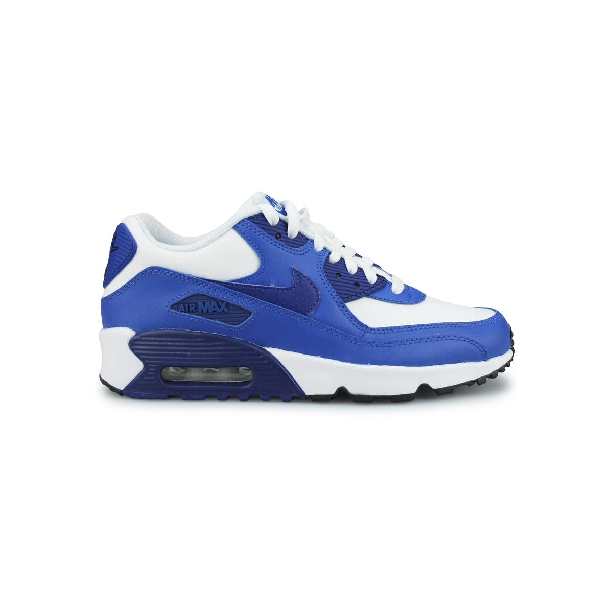 huge selection of d48fd 5fb46 NIKE AIR MAX 90 LTR JUNIOR BLANC 833412-105. Loading zoom