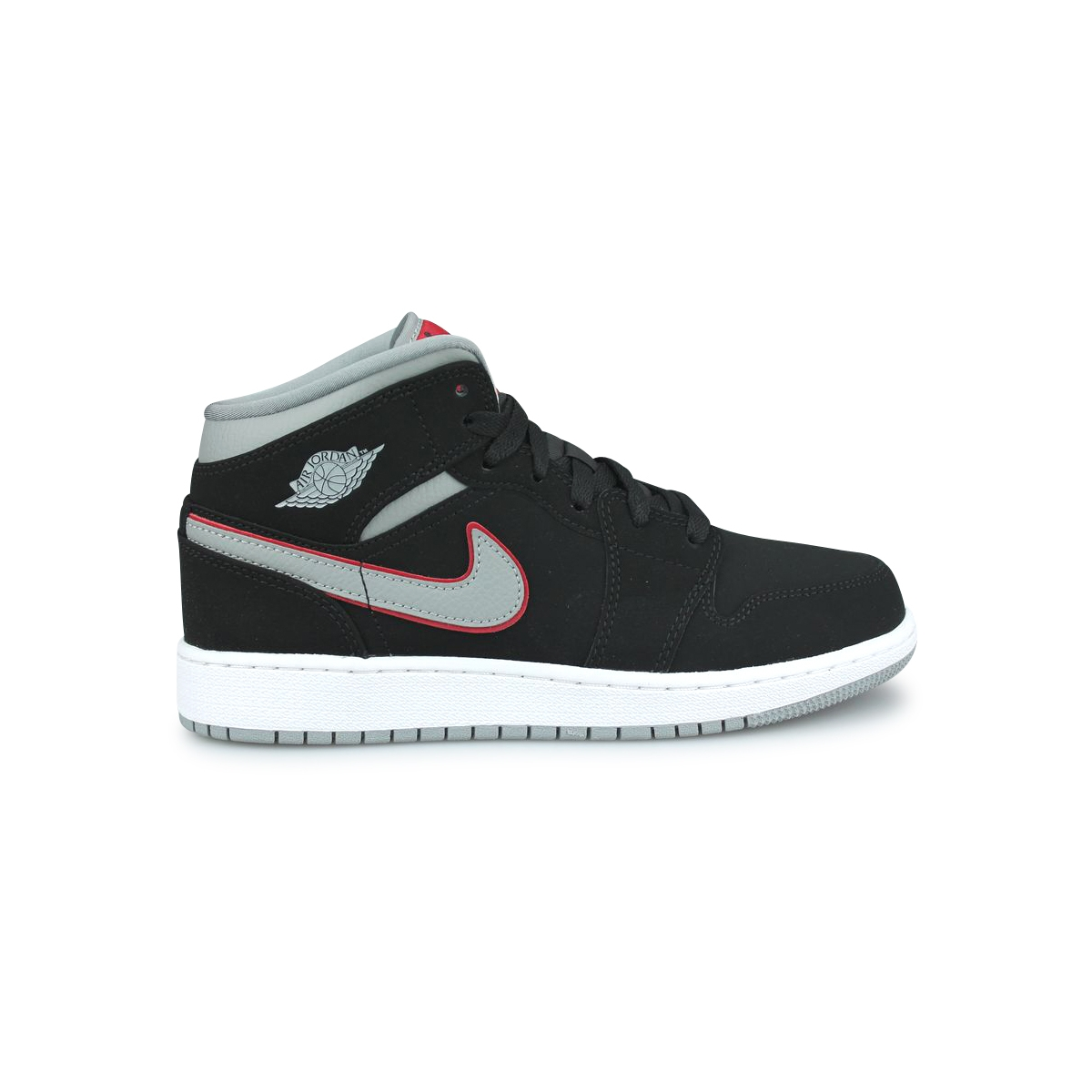 photos officielles 9dd7f 37b37 AIR JORDAN 1 MID JUNIOR NOIR 554725-060