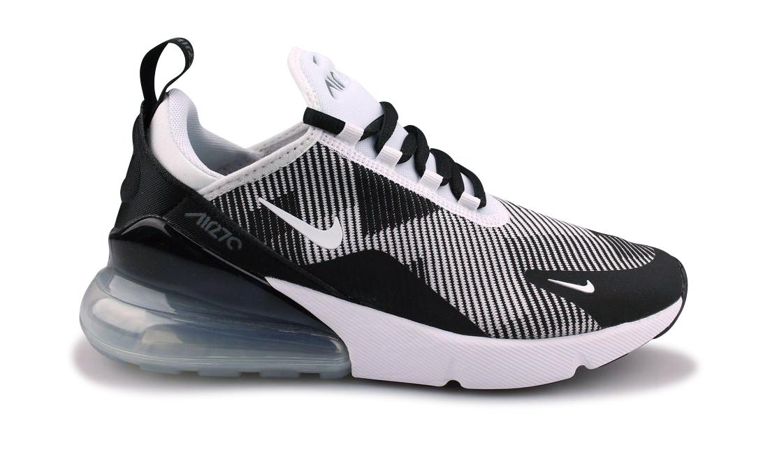 Basket Nike Air Max 270 Knit Jacquard Junior Noir Ar0301 007